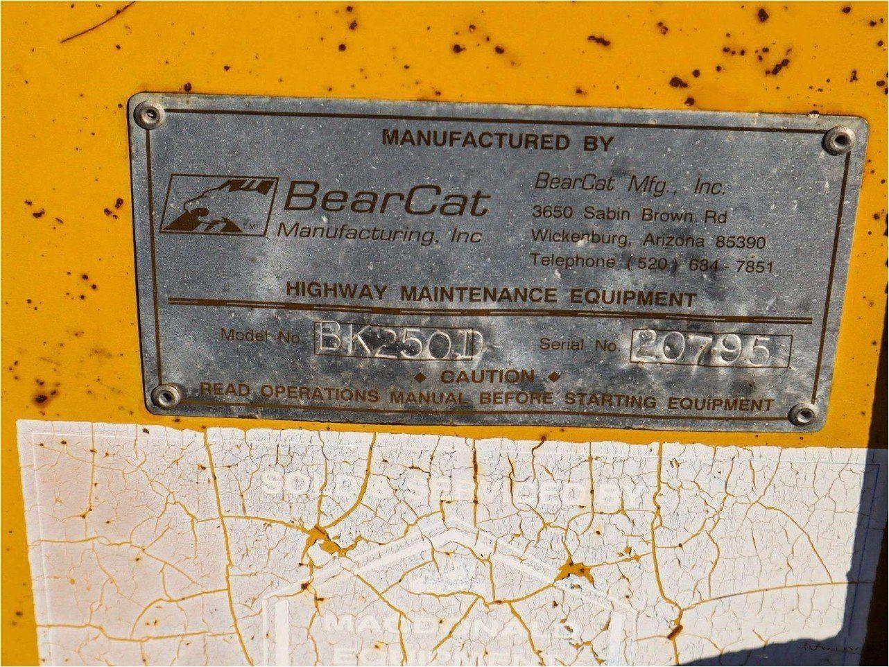 2001 BEARCAT BK250D