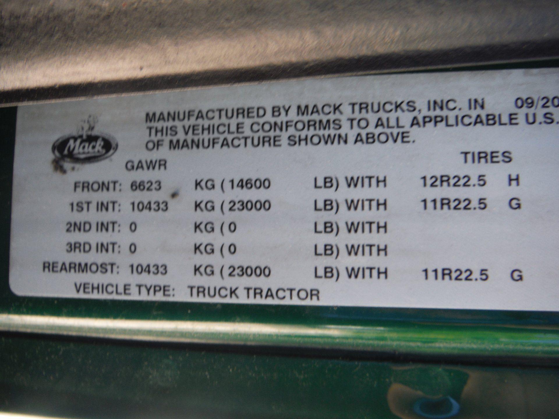 2013 MACK 600
