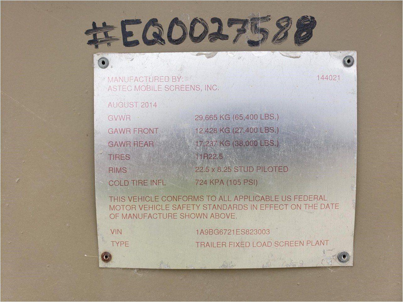 2015 ASTEC FOLD N GO 2612D