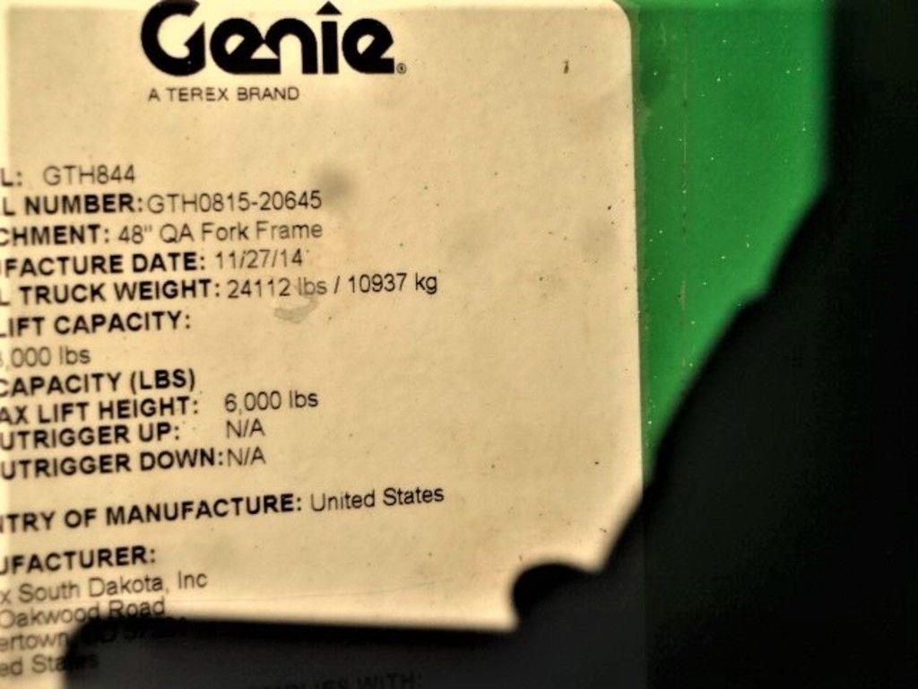 2015 GENIE® GTH -844