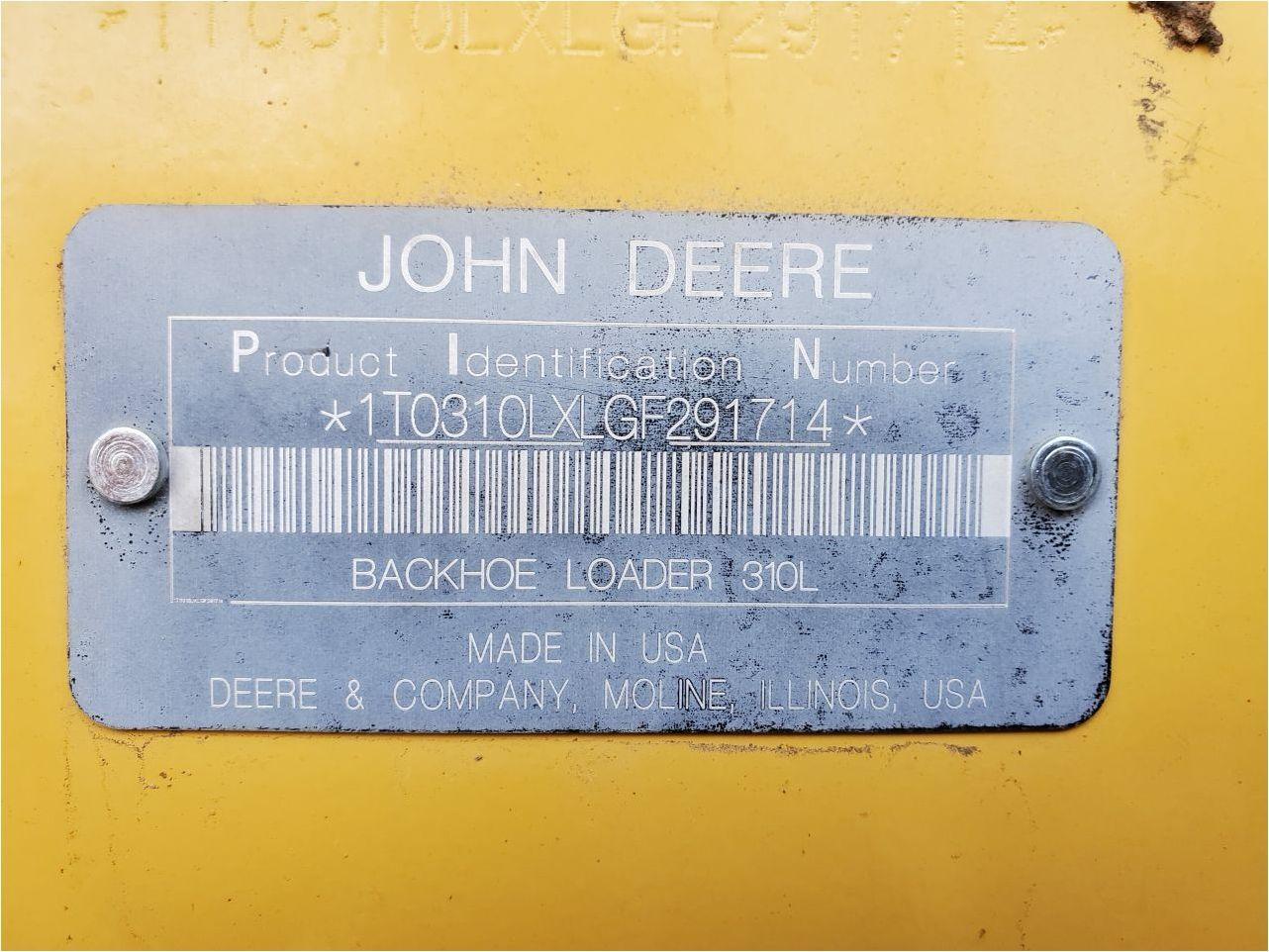 2015 JOHN DEERE 310L
