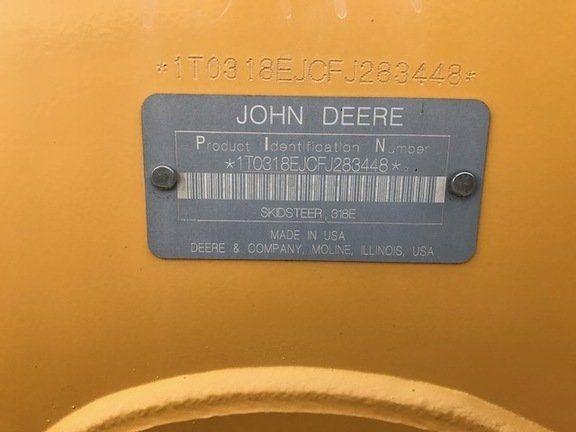 2015 JOHN DEERE 318E