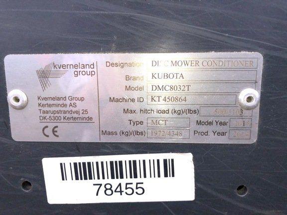 2015 KUBOTA DMC8032T