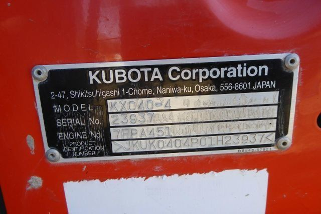2015 KUBOTA KX040-4