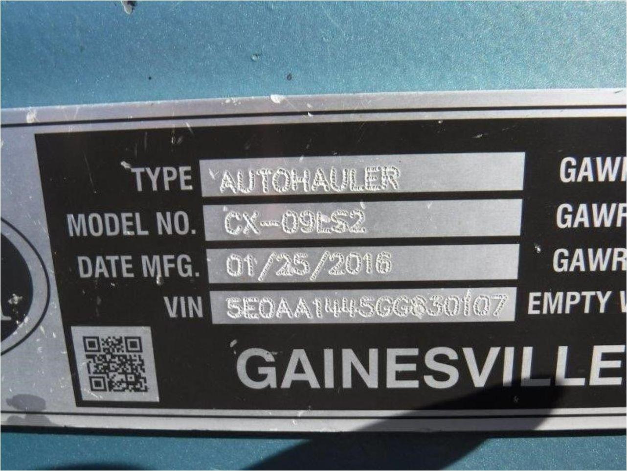 2016 COTTRELL CX-09LS2