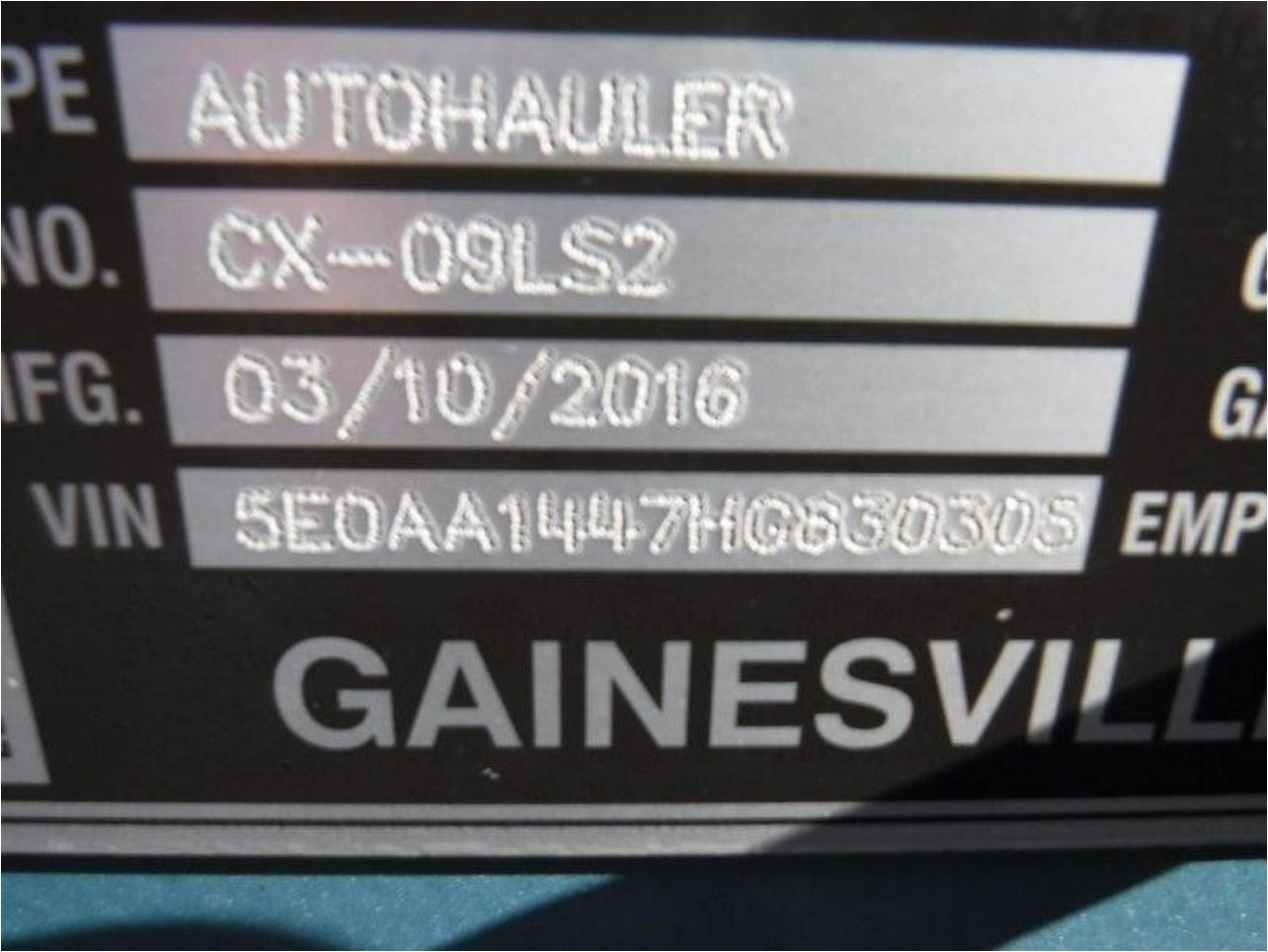 2017 COTTRELL CX-09LS2
